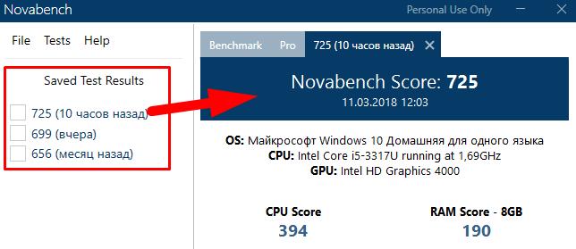 изменение производительности компьютера