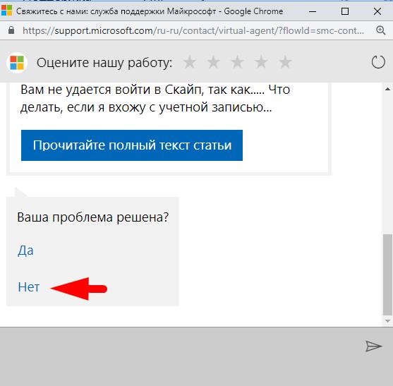 онлайн поддержка skype